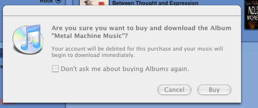 iTunes is loking out for me